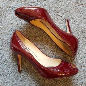 Kate Spade Red Patent Peep Toe Pumps 7.5 B
